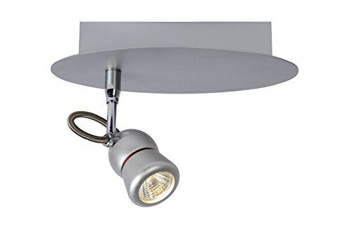 Preisvergleich Produktbild Lucide Tiry - Deckenstrahler - LEDDim. - 1X5W 3000K,  Metall,  Integriert,  5 W,  grau,  20 x 10 x 15 cm