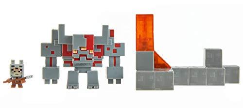 Minecraft GNF12 - Minecraft Dungeons Mini Battle Box mit Redstone Monster, Valorie und Lava-Zubehörteil