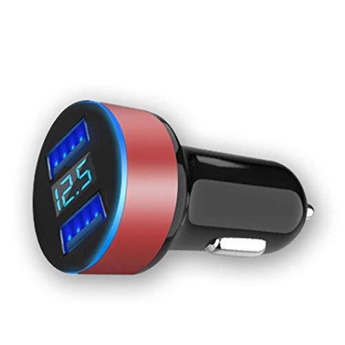 QYHT Dual USB LED Digitalanzeige Auto Ladegerät 3.1A Ausgang Docking-, Ladestationen und Ladegeräte (B)