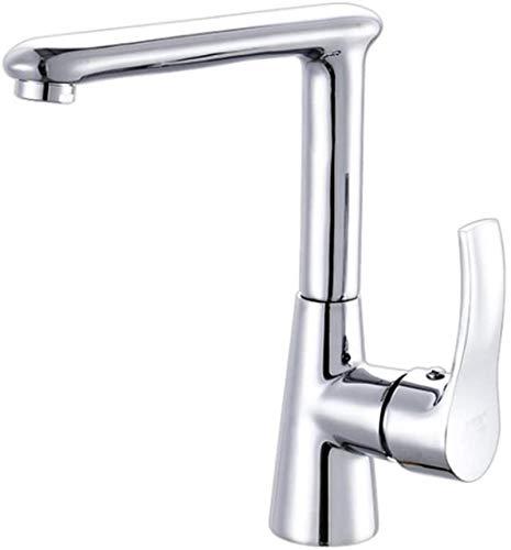 Grifo para lavabo de baño Caño en cascada Caño cromado para lavabo Grifo mezclador para lavabo Grifo mezclador para lavabo Homelody Boquilla giratoria para guardarropa frío y caliente Llave monomando