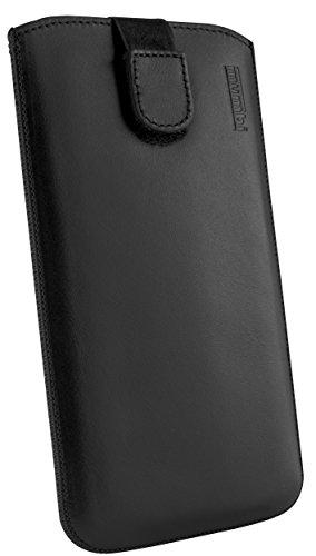 Mumbi - Custodia in vera pelle per Sony Xperia Z Ultra (con linguetta di estrazione)