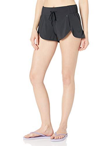 Hurley Junior's Apparel Women's Aquas Board Shorts, Black, XL