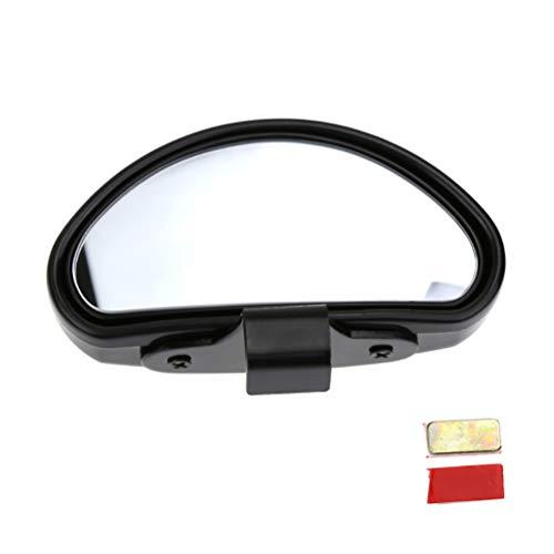 DDELLK autododehoekspiegel, 360 graden draaibaar, zijdelingse groothoek, achteruitkijkspiegel voor zijaanzicht spiegel, dodehoek, auto, vrachtwagen, zwart/zilver 1 zwart