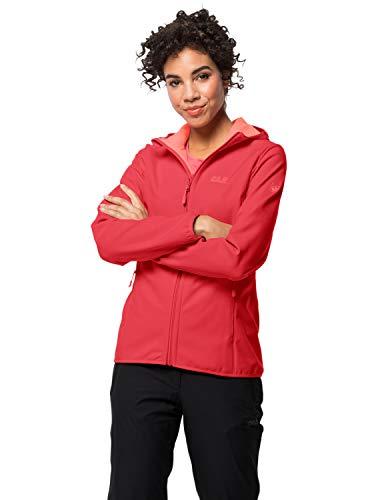 Jack Wolfskin Damen Northern Point Women Softshelljacke, Tulip red, XL