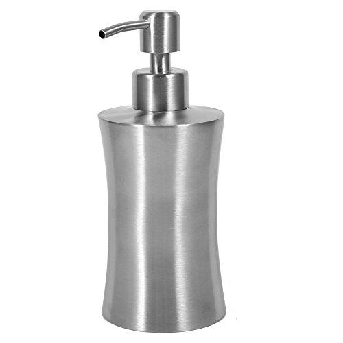 Yosoo 304 Dispenser di sapone in acciaio inox da doccia, con pompa per lozione, sapone, dispenser liquido, bottiglia per la cucina del ripiano del bagno, 220 ml / 250 ml / 400 ml (dimensioni: 220 ml)
