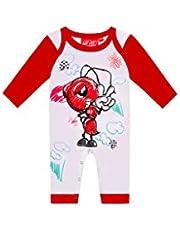 Marc Marquez - Pijama para bebé, diseño de Dibujos Animados, Color Blanco