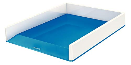 LEITZ WOW - Vaschetta portacorrispondenza Dual Color - Bianco / Blu metall. - 53611036