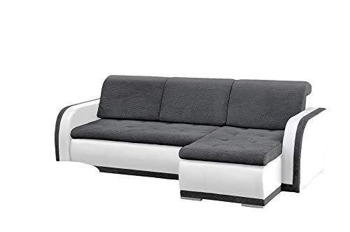 mb-moebel kleines Ecksofa Sofa Eckcouch Couch mit Schlaffunktion und Bettkasten L-Form Polstergarnitur große Farbauswahl - VERO I (Ecksofa Rechts,...