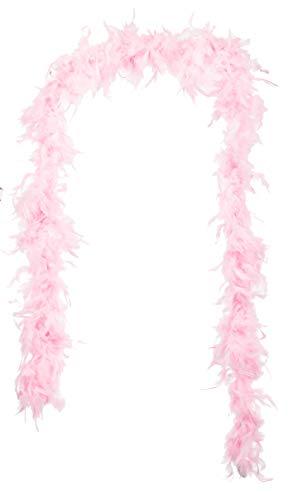 Brandsseller - Federboa Federschal Federstola Schal Karneval Fasching Burlesque Kostüme Zubehör (ca. 1,80 m, Rosa)