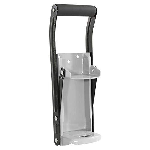 lossomly Abrebotellas de aluminio de 330 ml, soporte de pared 2 en 1 para picar bebidas y latas de cerveza recicladas, 31,5 x 11,5 x 8 cm