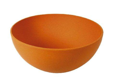 Ambiance Nature 510385 - Insalatiera Rotonda in Fibra di bambù, 24,2 cm, Colore: Arancione