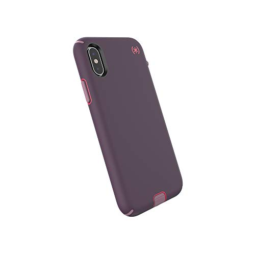Speck Products Compatible Phone Case for Apple iPhone XR, Presidio Sport Case, Vintage Purple/Pitaya Pink/Cattleya Pink