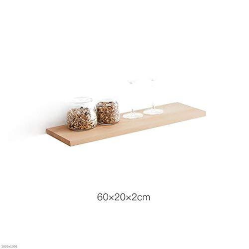 NUANXIN Massivholzwand Regal Wohnzimmercharakter dekorative Regalwandlager-Last 20KG,60cm