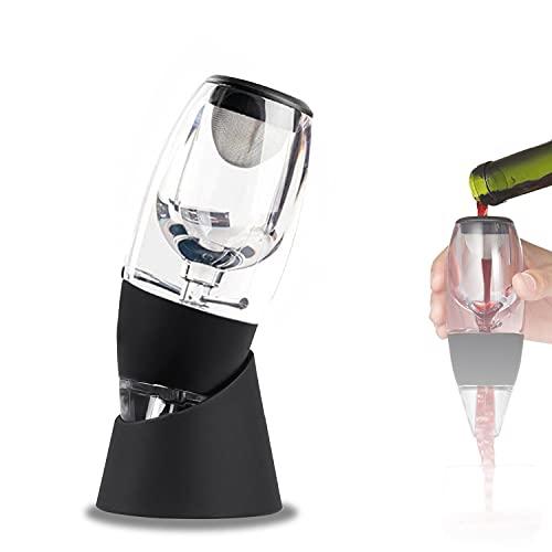 Aireador Vino Tinto,con Filtro e Base Decantador de Vino y Aireador,FáCil de Usar Aireador de Vino Profesional Este es el Mejor Regalo para los Amantes del Vino