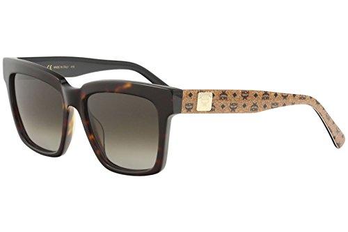 MCM Women's MCM646S Sunglasses, Tortoise/Cognac Visetos