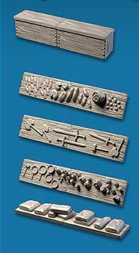 draken TRPG lock kerkers stad dorp starter uitbreiding set II miniatuur bbg spelgebied Taverne markt scene 3D-modellen, 5 stuks lange plank
