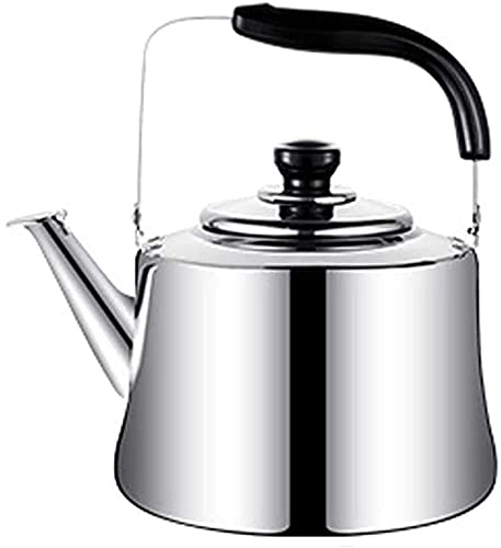 Stainless Steel Whistling Kettle Stove top Kettle Whistling Retro Style Stainless Steel Teakettle for All Hob/Stove Types Including Induction Prevent Excessive