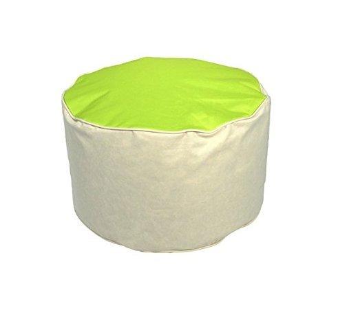 Wetterfester Sitzsack-Hocker: Outdoor Sitzpouf in Gelb