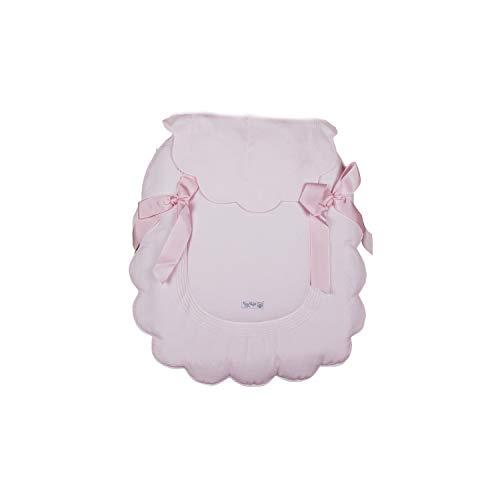 Cubre Capazo Universal Rosy Fuentes - Colcha Carrito Bebé - Cubre para Capazo - Bonito Diseño - Muy Resistente y Duradero - Elaborado en Piqué - Color rosa