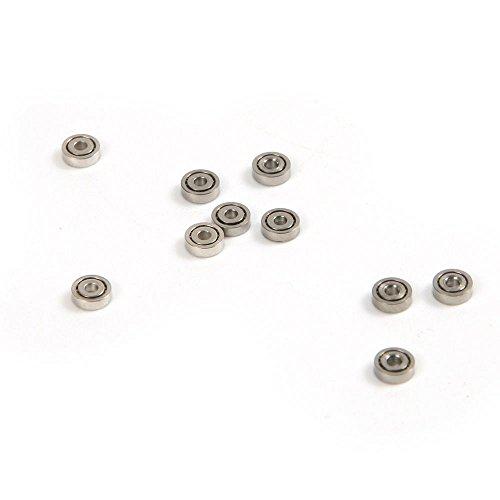 Winwill® 10pcs Miniatur L-415ZZ 681ZZ 1x3x1mm Metall Schild Kugellager Rad Rollen Spielzeug Modell