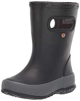 BOGS Kids Skipper Waterproof Rain Boot Solid Black 10 Toddler