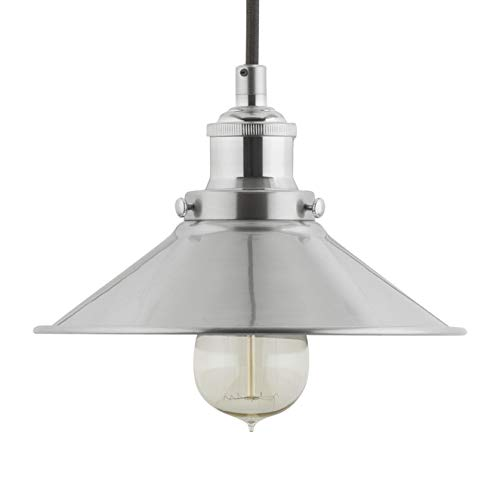 Andante Industrial Kitchen Pendant Light – Brushed Nickel Hanging Fixture - Linea di Liara LL-P407-BN