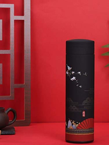 Frasco de vacío de acero inoxidable 304 creativo marea nacional estilo chino taza de agua con aislamiento taza necesidades diarias regalos