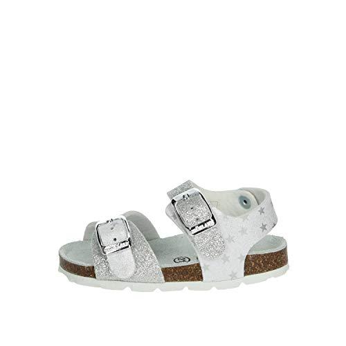 GRUNLAND Sandalo Bambina Bianco/argento Sb1540-40