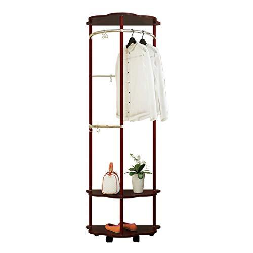 Étagère Porte Manteau de Chambre Multi-Fonction étagère de Rangement (Color : Wood-Based Panel, Size : 60 * 40 * 172cm)