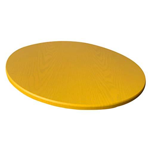FLAMEER Tovaglia in Poliestere con Supporto in Tessuto Tovaglia Rotonda Impermeabile Tovaglia per Tavoli da Pranzo/Poker 120 Cm / 48 Pollici di Diametro - Giallo, 120 cm Max