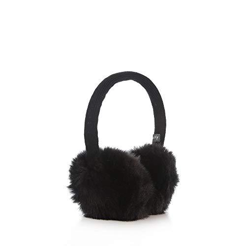 CODEGEN MUFFY Earmuff & Wired Headphone with Microphone Ear Warmers/Earmuffs-Soft Plush Fleece Outdoor Winter Ear Muffs for Men & Women & Children 3.5mm Jack for All Devices (Black(Overhead))