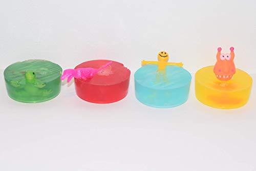 Kinder handgemachte Seife mit lustigem Spielzeug 4er Pack