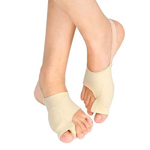 Hallux Valgus Korrektor Gel Bunion Socken Toe Glätteisen Protektoren für große Zehenspreizer, Zehenschiene Stützhülse mit Silikonseparatoren und Polster für Schmerzlinderung Tag und Nacht