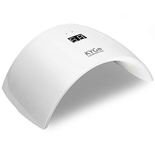 KYG Sun9s Secador de Uñas Lámpara LED UV para Uñas en Manicuras de Shellac y Gel con Sensor de Infrarrojos...