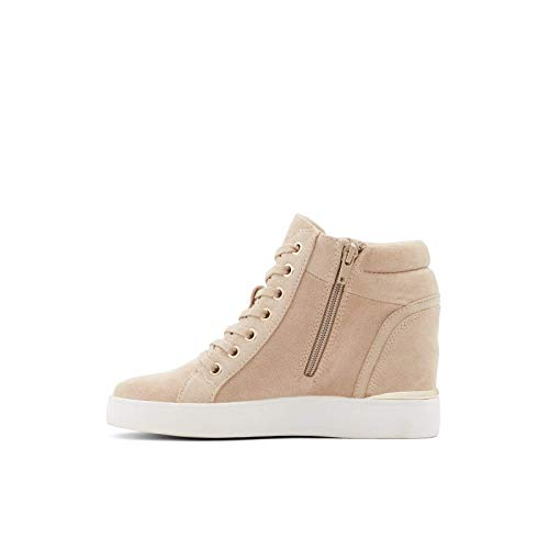 ALDO Women's Ailanna Wedge Sneaker, Dark Beige, 9