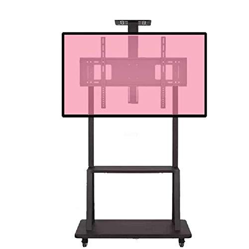 Soporte de Suelo para TV para Sala de Estar Soporte de TV de Piso móvil/Carrito con Bandeja de 2 Niveles para 32'-65' LCD LED Pantalla de Plasma OLED, Altura Ajustable TV TV Soporte de Piso