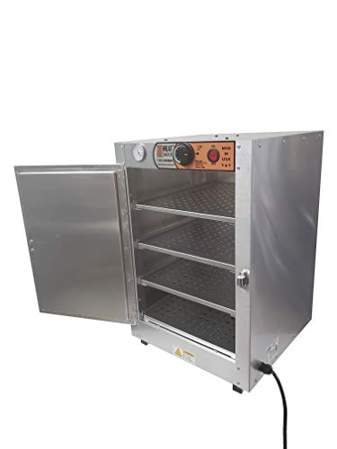 HeatMax 16x16x24 Hot Box Food Warmer with an Interior usable shelf space of 13 x 15.5 inch. Countertop Pizza, Patty, Pasty, Empanada, Concession Hot Food Holding Case