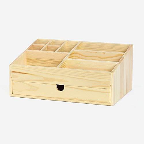 NYDZ Madera sólida joyería Caja de Almacenamiento de múltiples Funciones de Escritorio cosméticos Caja de Almacenamiento Dormitorio gaveta de Almacenamiento joyero (Size : C-31 * 21 * 13.8)