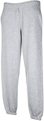 pantalone tuta FRUIT OF THE LOOM felpato con elastico e cordoncino in vita tasche ed elastico caviglie gr.280 (TG.M, GRIGIO)