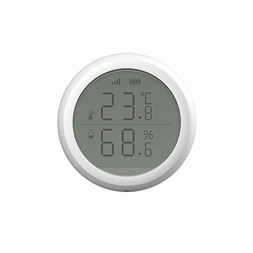 CoRui Smart Home Set - Drahtloses Thermometer-Hygrometer-Temperatur-Feuchtigkeitsmonitor mit Warnungen und Datenexport, Wetterstation mit LCD-Bildschirmanzeige, batteriebetriebenes Smart Life