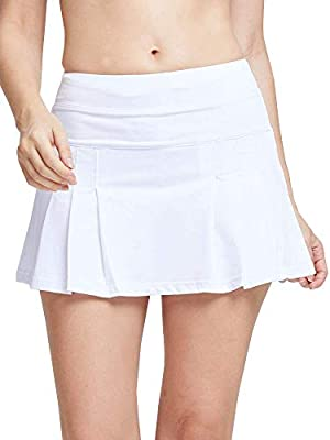 Women's Spike Athletic Mini Skort for Performance Training Tennis Golf & Running White Tag S from