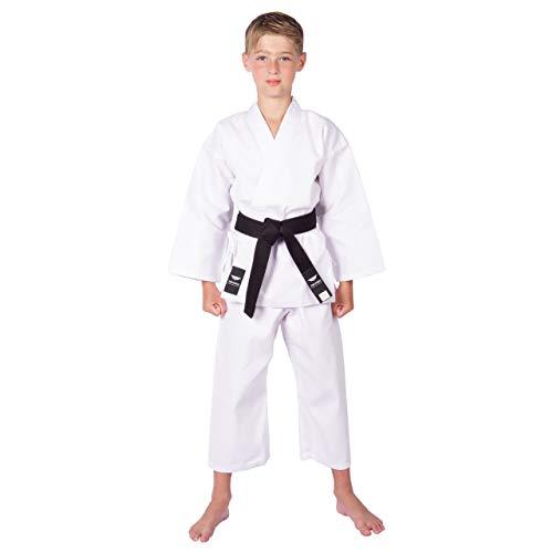 of martial arts uniforms TOKYODO Karate Uniform Extra Lightweight 6 oz for Kids & Adults Student Gi – 3pc Gi Set Includes Pants, Kimono Jacket & Free White Belt – Comfortable Polyester & Cotton Blend
