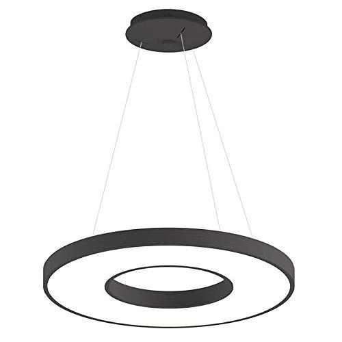 Lámpara colgante BERING 70W, negro, Triac regulable, Ø80cm, Blanco neutro, regulable
