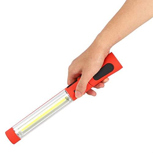 Luz de trabajo de alto brillo de ahorro de energía, luz de trabajo ajustable con cojinete recargable, tres modos de senderismo, enseñanza para iluminación