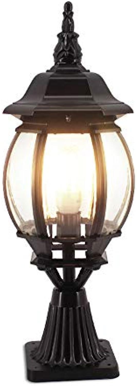 Wasserdichte Sulen-Scheinwerfer im Freien, Türpfosten-Lichter, Wandleuchten, Tor-Lichter, Garten-Lampe, Aluminium Glas (Farbe   schwarz L)
