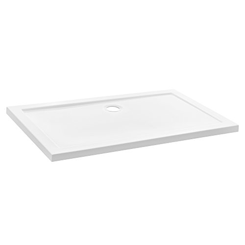 [neu.haus] Plato de ducha - rectangular - 80x120x4cm (blanco puro)