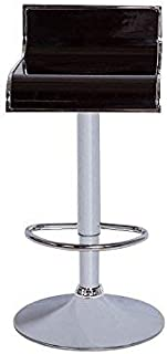 Vogue Furniture Direct Acrylic Swivel/Hydraulic Barstool With Chrome Outline, Black