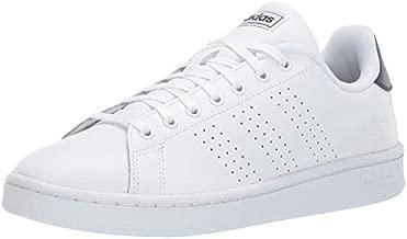 adidas Men's Advantage Running Shoe, White/White/Dark Blue, 9.5 M US