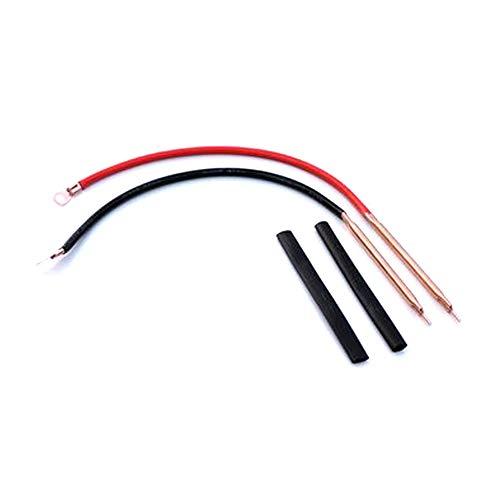 KKmoon soldeerbout voor soldeerbout met punten, draagbaar, van zuiver koper voor 18650 accu
