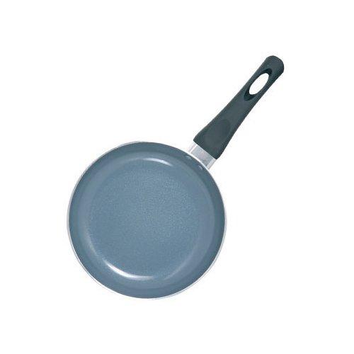 MSV 110312 Poêle pour Tous Feux Ø 22cm de Aluminium/ceramique en Noir/Gris, Silicone, 22 cm